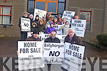 Keeping up the fight against the proposed wind farm in north Kerry were protesters outside Kerry County buildings on Monday mornings. Pictured were: from front l-r were: Tony Carroll, Aidan Linnane and Gerry Doyle. Pictured at the back were: Joe Leahy, Ruairí Linnane, Ciarán Linnane, Siún Cronin, Aideen Cronin, John Cronin, Mary Leahy, Seamus Browne, Paddy McCarthy, Helen McCarthy, Nellie Horgan, Dervela Cronin, Michael Somers, Michael Dennehy, Maureen Lyons and Eleanor Cronin.