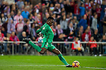 Goalkeeper Idriss Carlos Kameni of Malaga CF in action during their La Liga match between Club Atletico de Madrid and Malaga CF at the Estadio Vicente Calderón on 29 October 2016 in Madrid, Spain. Photo by Diego Gonzalez Souto / Power Sport Images