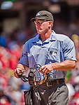 24 May 2015: MLB Umpire Ben May works home plate during a game between the Washington Nationals and the Philadelphia Phillies at Nationals Park in Washington, DC. The Nationals defeated the Phillies 4-1 to take the rubber game of their 3-game weekend series. Mandatory Credit: Ed Wolfstein Photo *** RAW (NEF) Image File Available ***