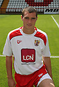 Darren Murphy of Stevenage  at the Stevenage FC team photo shoot at The Lamex Stadium, Broadhall Way, Stevenage on Saturday, 24th July, 2010.© Kevin Coleman 2010