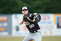 Gastonia Grizzlies starting pitcher Brandon Casas (30) in action against the Asheboro Copperheads at McCrary Park on June 1, 2015 in Asheboro, North Carolina.  The Copperheads defeated the Grizzlies 11-6. (Brian Westerholt/Four Seam Images)