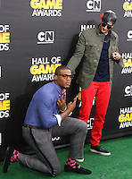 SANTA MONICA, CA, USA - FEBRUARY 15: Cam Newton, Colin Kaepernick at the 4th Annual Cartoon Network Hall Of Game Awards held at Barker Hangar on February 15, 2014 in Santa Monica, California, United States. (Photo by David Acosta/Celebrity Monitor)
