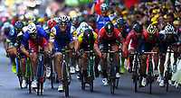 Liege, Belgium - July 2 :  KITTEL Marcel of Quick-Step Floors, GREIPEL Andre of Lotto Soudal, DEMARE Arnaud of FDJ during stage 2 of the 104th edition of the 2017 Tour de France cycling race, a  stage of 203 kms between Dusseldorf and Liege on July 2, 2017 in Liege, Belgium, 2/07/2017 <br /> Ciclismo Tour De France 2017 <br /> Foto Photonews / Panoramic / Insidefoto <br /> ITALY ONLY