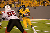 08 November 2007: West Virginia running back Steve Slaton (10)..The West Virginia Mountaineers defeated the Louisville Cardinals 38-31 on November 08, 2007 at Mountaineer Field, Morgantown, West Virginia. .
