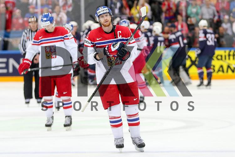 Tschechiens Voracek, Jakub (Nr.93) (Philadelphia Flyers) entt&auml;uscht  nach dem Spiel IIHF WC15 USA vs. Czech Republic die Cermony Bronze.<br /> <br /> Foto &copy; P-I-X.org *** Foto ist honorarpflichtig! *** Auf Anfrage in hoeherer Qualitaet/Aufloesung. Belegexemplar erbeten. Veroeffentlichung ausschliesslich fuer journalistisch-publizistische Zwecke. For editorial use only.