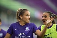 Orlando, FL - Saturday June 03, 2017: Monica, Marta during a regular season National Women's Soccer League (NWSL) match between the Orlando Pride and the Boston Breakers at Orlando City Stadium.