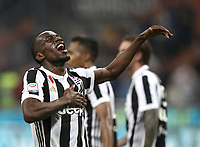 Calcio, Serie A: Inter - Juventus, Milano, stadio Giuseppe Meazza (San Siro), 28 aprile 2018.<br /> Juventus' Blaise Matuidi celebrates after winning 3-2 the Italian Serie A football match between Inter Milan and Juventus at Giuseppe Meazza (San Siro) stadium, April 28, 2018.<br /> UPDATE IMAGES PRESS/Isabella Bonotto