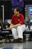 15 December 2007: Stanford Cardinal video coordinator Mas Shibata during Stanford's 25-30, 26-30, 30-23, 30-19, 8-15 loss against the Penn State Nittany Lions in the 2007 NCAA Division I Women's Volleyball Final Four championship match at ARCO Arena in Sacramento, CA.