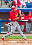 7 March 2015: St. Louis Cardinals infielder Aledmys Diaz connects during Spring Training action against the Washington Nationals at Space Coast Stadium in Viera, Florida. The Cardinals fell to the Nationals 6-5 in Grapefruit League play. Mandatory Credit: Ed Wolfstein Photo *** RAW (NEF) Image File Available ***