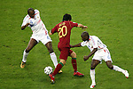 05 July 2006: Defenders Patrick Vieira (FRA) (4) and Claude Makelele (FRA) (6) combine to stop the run of Deco (POR) (20). France defeated Portugal 1-0 at the Allianz Arena in Munich, Germany in match 62, the second semifinal game, in the 2006 FIFA World Cup.