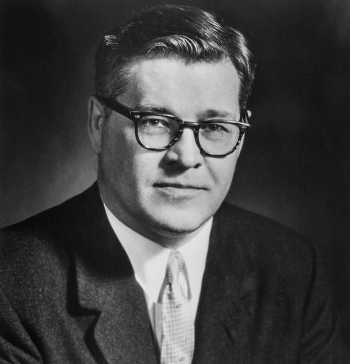 Sen. Lee Metcalf, D-Mont. in 1962. (Photo by CQ Roll Call)