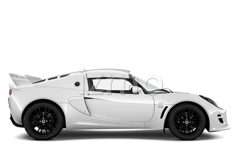 Passenger side profile view of a 2009 Lotus Exige S 2 Door Coupe.