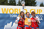 Ksenia Konohova - Senior ladies overall <br /> FIS Rollerski World Cup 2013 at Dobbiaco, Toblach, Italy.<br /> <br /> Poursuit race and overall podium<br /> <br /> photo: &copy; PierreTeyssot.com