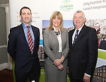 Attending the  Entrepreneur of the Year 2016 in the  Limerick Final of the National Enterprise Awards at a ceremony in the Dunraven Arms Hotel, Adare were Kieran Considine, AIB, Aileen Ryan, AIB and Eamon Ryan, Head of Enterprise, Local Enterprise Office Limerick.<br /> Photograph Liam Burke/Press