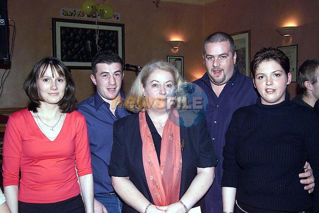 Patricia McGinn Finnians Park, Mark, Trina, Patrick Grimes Collon and Sharon McGahon Collon.Pic Fran Caffrey Newsfile.© Newsfile