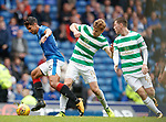 Eduardo Herrera with Stuart Armstrong and Callum McGregor
