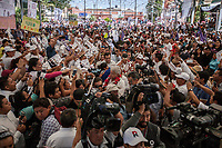 June 11, 2018: Andres Manuel Lopez Obrador, an opposition candidate of MORENA party running for presidency, arrives to his campaign rally at Las Margaritas' municipality in Chiapas, Mexico. National elections will be hold on July 1.