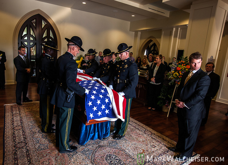 the funeral service for long time Leon County Sheriff Larry Campbell at St. Peter's Anglican Church in Tallahassee, Florida December 30. 2014.