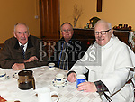 Eamon McFadden, Tommy Walsh and Fr Jim Dunleavy at the Dominican Coffee Morning. Photo:Colin Bell/pressphotos.ie