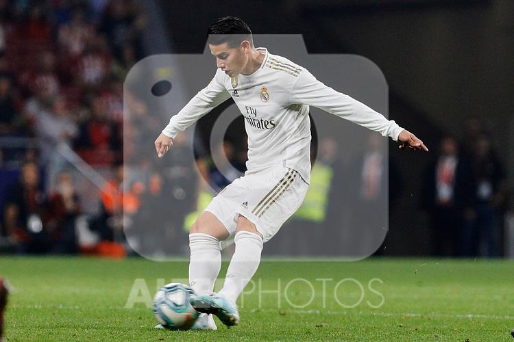 James Rodriguez of Real Madrid during La Liga match between Atletico de Madrid and Real Madrid at Wanda Metropolitano Stadium in Madrid, Spain. September 28, 2019. (ALTERPHOTOS/A. Perez Meca)