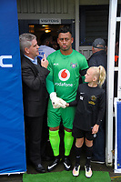 Lautoka captain Ben Mateinaqara prepares to lead his team out for the Oceania Football Championship final (first leg) football match between Team Wellington and Lautoka FC at David Farrington Park in Wellington, New Zealand on Sunday, 13 May 2018. Photo: Dave Lintott / lintottphoto.co.nz