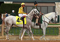 "October 07, 2018 : #4 Nitrous and jockey Ricardo Santana Jr. in the 1st running of The Indian Summer $200,000 ""Win and You're In Breeders' CupJuvenile Turf Sprint Division"" for trainer Mark Casse and owner John Oxley  at Keeneland Race Course on October 07, 2018 in Lexington, KY.  Candice Chavez/ESW/CSM"