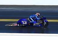 Mar 19, 2017; Gainesville , FL, USA; NHRA pro stock motorcycle rider Matt Smith during the Gatornationals at Gainesville Raceway. Mandatory Credit: Mark J. Rebilas-USA TODAY Sports