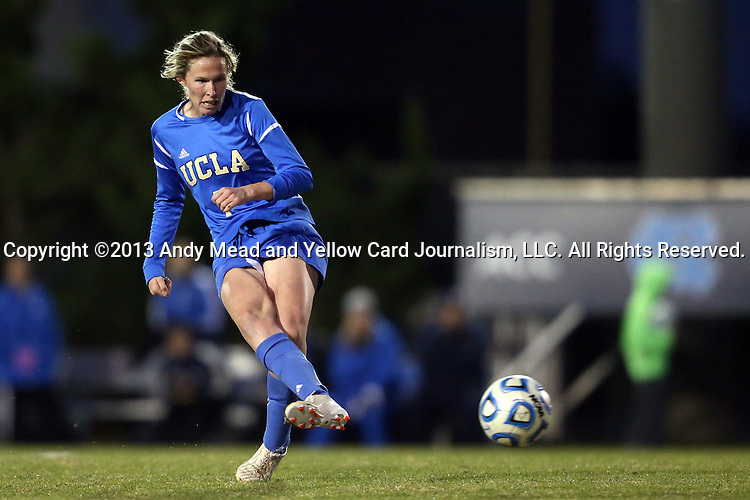 30 November 2013: UCLA's Jenna Richmond. The University of North Carolina Tar Heels played the University of California Los Angeles Bruins at Fetzer Field in Chapel Hill, North Carolina in a 2013 NCAA Division I Women's Soccer Tournament Quarterfinal match. UCLA won the game 1-0 in two overtimes.