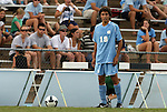 06 September 2009: UNC's Michael Farfan. The University of North Carolina Tar Heels defeated the Evansville University Purple Aces 4-0 at Fetzer Field in Chapel Hill, North Carolina in an NCAA Division I Men's college soccer game.