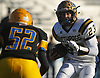 Jason Seiter #23 of Bethpage runs the ball on a quarterback keep during the Nassau County Conference III varsity football semifinals against Lawrence at Hofstra University on Saturday, Nov. 11, 2017.