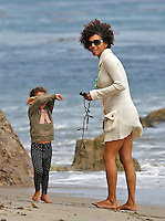 Halle Berry & daughter Nahia on Malibu Beach