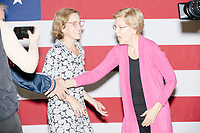 Democratic presidential candidate and Massachusetts senator Elizabeth Warren greets people in the selfie line after speaking at a Town Hall campaign event in the Granite State Room in the Memorial Union Building at the University of New Hampshire in Durham, New Hampshire, on Wed., October 30, 2019. Per the campaign, approximately 625 people attended the event, which was part of Warren's 20th trip to the state since Jan. 2019.