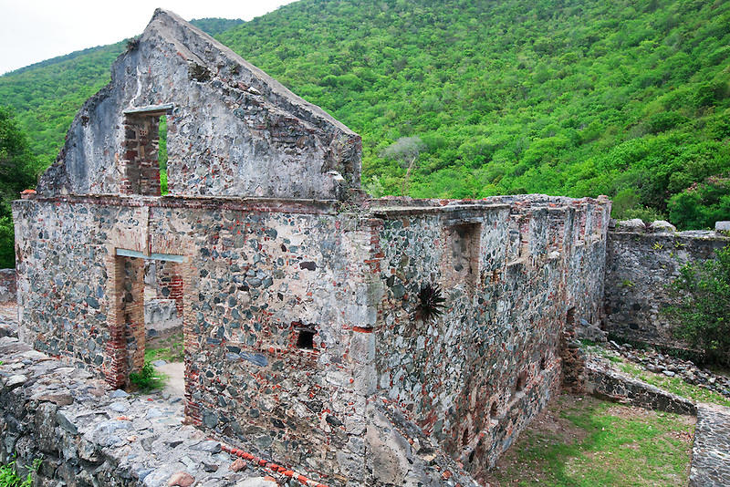 Annaberg Sugar Mill. St. John Island. US Virgin Islands. Virgin Islands National Park.