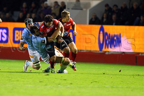 30.11.2013. Toulon, France. Top 14 rugby union. Toulon versus Perpignan.  maxime mermoz (rct)