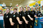 FREE PIC - NO REPRO FEE<br /> 24/09/2015 - Blackpool, Cork<br /> Staff members, from left: Rachel O'Donovan, Clare Jones, Vanessa Hegarty, Kathleen Kelleher, Natasha Smiljanic, Demi Higgins at the official opening of the new Dealz store at Blackpool Retail Park, Cork.<br /> Pic: Brian Lougheed
