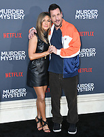 "10 June 2019 - Westwood, California - Jennifer Aniston, Adam Sandler. Netflix's ""Murder Mystery"" Los Angeles Premiere held at Regency Village Theater. Photo Credit: Birdie Thompson/AdMedia<br /> CAP/ADM/FS<br /> ©FS/ADM/Capital Pictures"