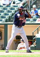 July 14, 2003:  Adrian Brown of the Pawtucket Red Sox, Class-AAA affiliate of the Boston Red Sox, during a International League game at Frontier Field in Rochester, NY.  Photo by:  Mike Janes/Four Seam Images