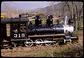 Engineer's side view of D&amp;RGW #318 at Colorado Railroad Museum.<br /> D&amp;RGW