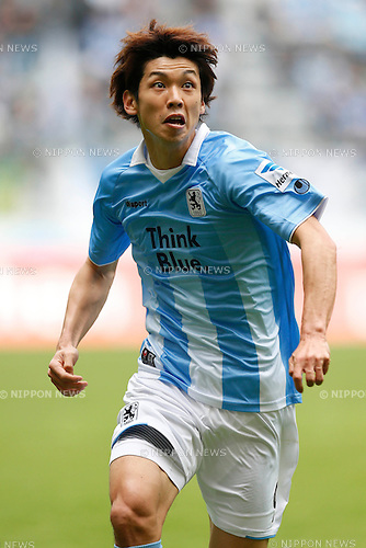 Yuya Osako (1860 Munchen), APRIL 6, 2014 - Football / Soccer : Second Bundesliga match between TSV 1860 Munchen 0-3 Karlsruher SC at Allianz Arena in Munich, Germany. (Photo by D.Nakashima/AFLO)
