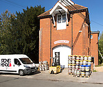Stonehenge Ales brewery, Netheravon, Wiltshire, England, UK in old electrical power plant building built in 1914