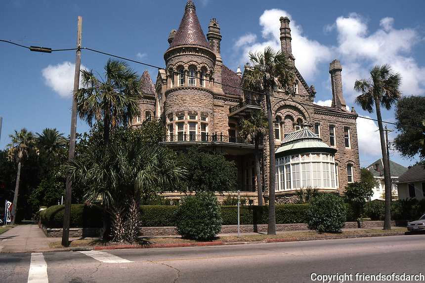 Galveston:  Walter Gresham House, 1881 (now Bishop's House Newman Fellowship) 1402 Broadway. Nicholas J. Clayton, Arch.