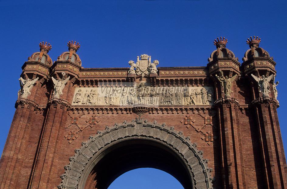 Europe/Espagne/Catalogne/Barcelone : L'arc de Triomphe
