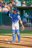 Ramon Rodriguez (7) of the Ogden Raptors during the game against the Missoula Osprey at Lindquist Field on August 12, 2019 in Ogden, Utah. The Raptors defeated the Osprey 4-3. (Stephen Smith/Four Seam Images)