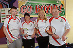 Andrew Walker, Linda Murphy, Anna Greene and Ian Clarke at the Boyne Badminton Club Battle of the Boyne Finals. Photo: Andy Spearman. www.newsfile.ie