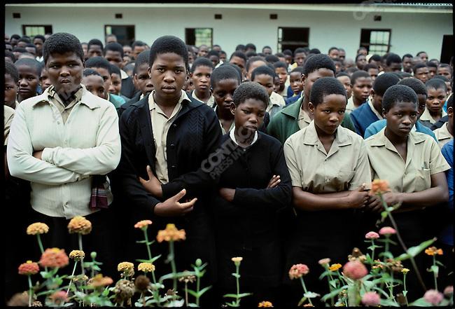 Girls school. Zululand, South Africa, March 1976.