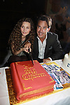 Alicia Minshew & Ricky Paull Goldin cut the cake at All My Children's Good Night Pine Valley was held on September 17, 2011 at Prohibition, New York City, New York. (Photo by Sue Coflin/Max Photos)