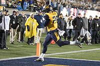 BERKELEY, CA - November 26, 2016: Cal's Bug Rivera (26) scores a touchdown. Cal played UCLA at California Memorial Stadium.
