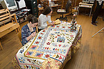 Quilters working at Mississippi Valley Textile Museum, Almonte, Ontario, Canada