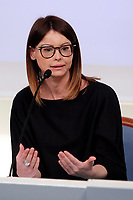 Lucia Annibali, a 40 years lawyer that in 2013 was defaced with acid by two men. Later was discovered the mandator, her ex boyfriend, Luca Varani.<br /> Roma 16/10/2017. Palazzo Chigi. Presentazione della campagna per il numero 1522 antiviolenza e antistalking.<br /> Rome November 16th 2017. Presentation of the anti stalking and anti violence green number 1522<br /> Foto Insidefoto