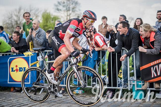 Greg Van Avermaet (BEL/BMC) up the Paterberg for a last time<br /> <br /> 101th Ronde Van Vlaanderen 2017 (1.UWT)<br /> 1day race: Antwerp &rsaquo; Oudenaarde - BEL (260km)